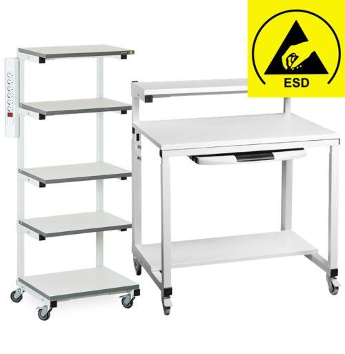 Антистатические подкатные столы и стойки