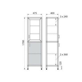 Медицинский шкаф ДМ-2-001-03, фото 2