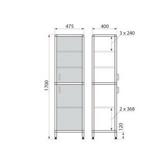 Медицинский шкаф ДМ-1-001-04, фото 2
