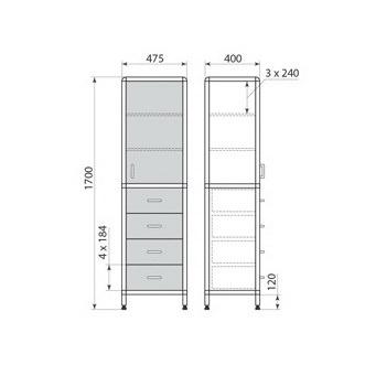 Медицинский шкаф ДМ-2-001-10, фото 2