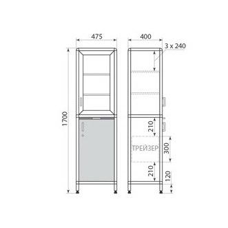 Медицинский шкаф ДМ-1-001-11, фото 2