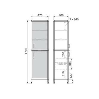 Медицинский шкаф ДМ-2-001-12, фото 2