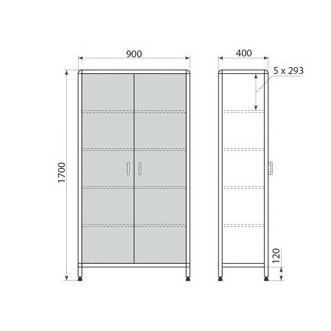 Медицинский шкаф ДМ-2-001-16, фото 2