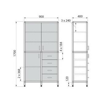 Медицинский шкаф ДМ-2-001-22, фото 2