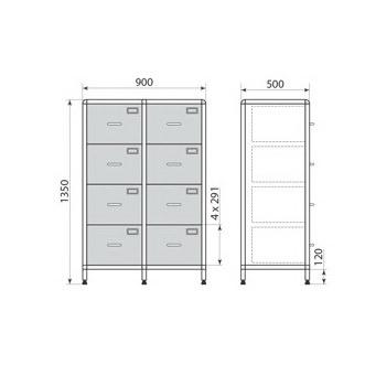 Медицинский шкаф ДМ-1-001-23, фото 2