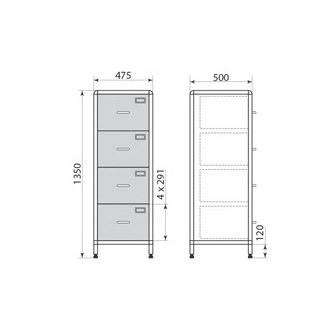 Медицинский шкаф ДМ-2-001-25