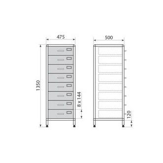 Медицинский шкаф ДМ-2-001-26, фото 2