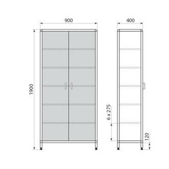 Медицинский шкаф ДМ-1-001-28, фото 2