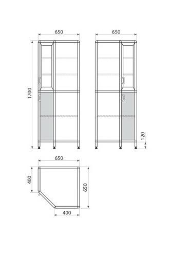 Медицинский шкаф ДМ-1-001-33, фото 2