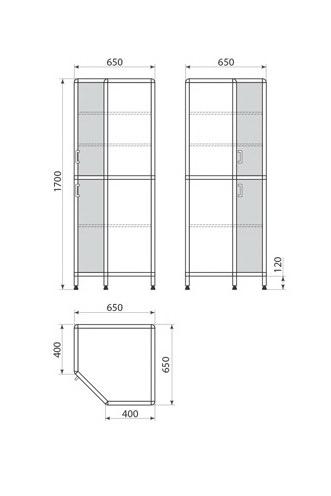 Медицинский шкаф ДМ-1-001-34, фото 2
