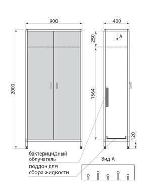 Шкаф для хранения эндоскопов ДМ-2-001-35, фото 2