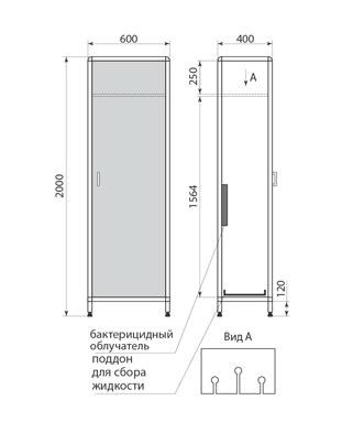 Шкаф для хранения эндоскопов ДМ-2-001-36, фото 2