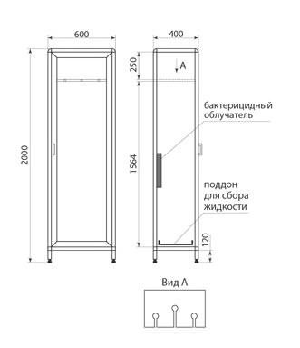 Шкаф для хранения эндоскопов ДМ-1-001-37, фото 2