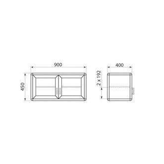 Шкаф навесной ДМ-2-002-03