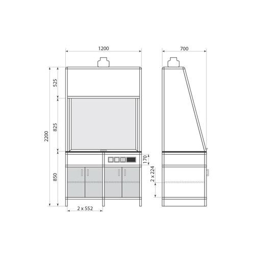 Вытяжной шкаф ДМ-1-004-01, фото 2