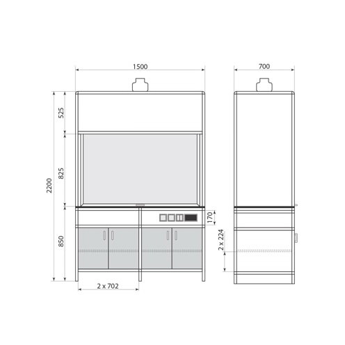 Вытяжной шкаф ДМ-1-004-03, фото 2