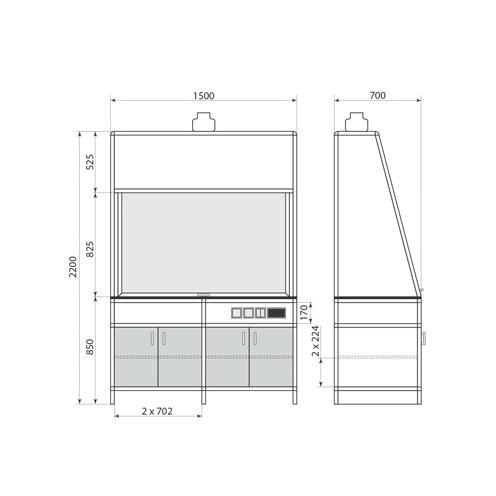 Вытяжной шкаф ДМ-1-004-04, фото 2