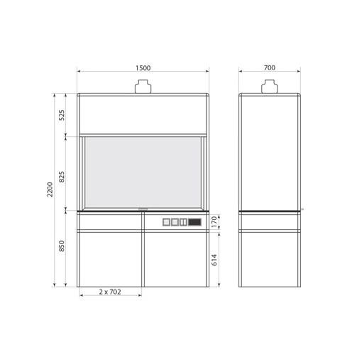 Вытяжной шкаф ДМ-1-004-09, фото 2