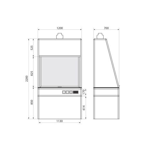 Вытяжной шкаф ДМ-1-004-08, фото 2