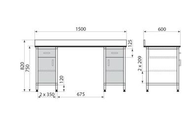 Стол ДМ-1-006-25, фото 2