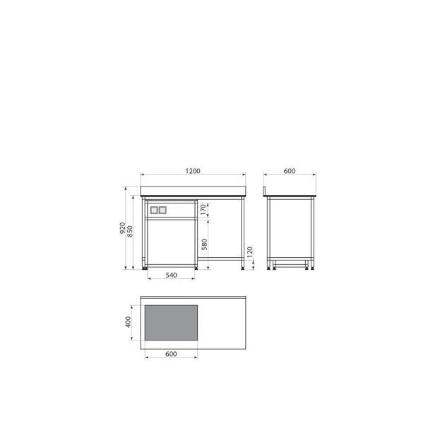 Стол весовой ДМ-2-006-47, фото 2