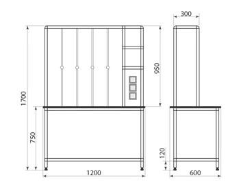 Стол титровальный ДМ-1-006-56, фото 2
