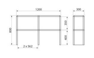 Надставка для стола ДМ-2-013-02, фото 2