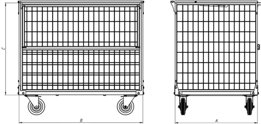 Контейнер сетчатый металлический КСМ 6, фото 2
