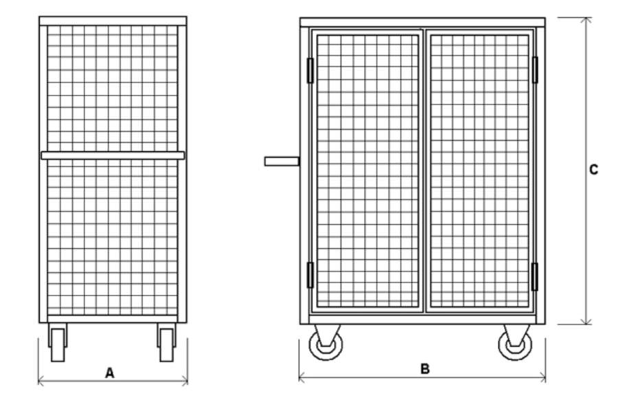 Сетчатые металлические шкафы и контейнеры : сетчатый шкаф с .