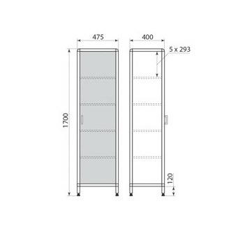 Медицинский шкаф ДМ-1-001-02, фото 2