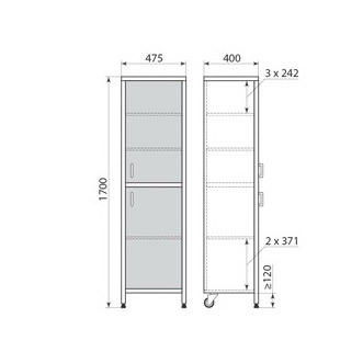Медицинский шкаф ДМ-3-001-04, фото 3