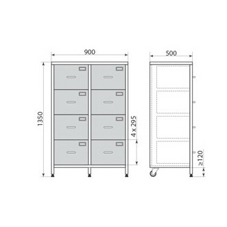 Медицинский шкаф ДМ-3-001-23, фото 3