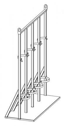 Стойка для газовых баллонов СГМ-04м, фото 3