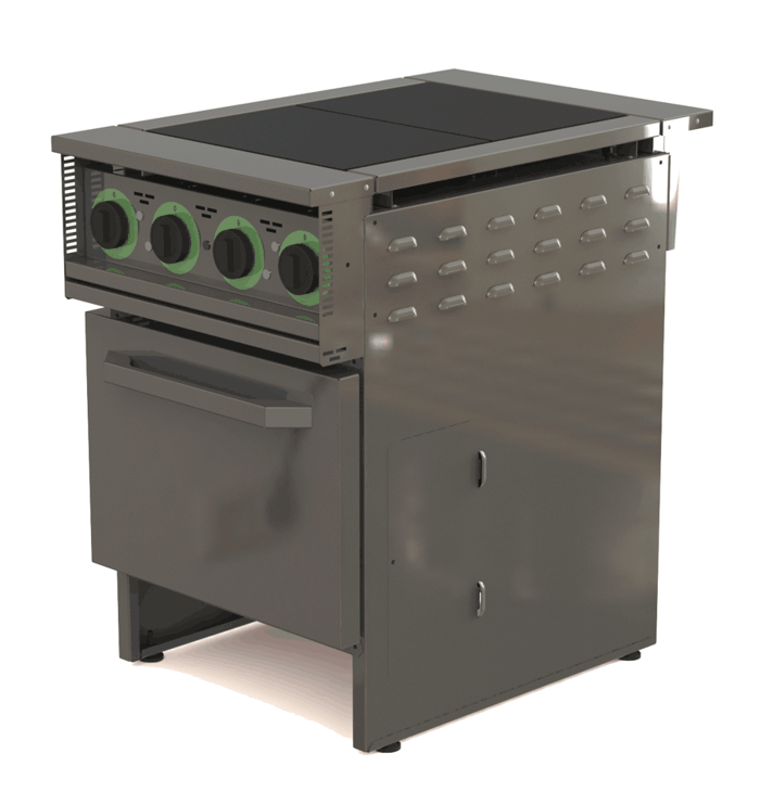 Плита электрическая двухконфорочная с жарочным шкафом ЭП2ШН