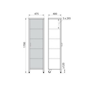 Медицинский шкаф ДМ-3-001-02, фото 2