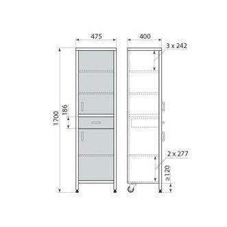 Медицинский шкаф ДМ-3-001-06, фото 2