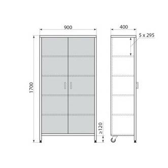 Медицинский шкаф ДМ-3-001-16, фото 2