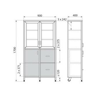 Медицинский шкаф ДМ-3-001-19, фото 2