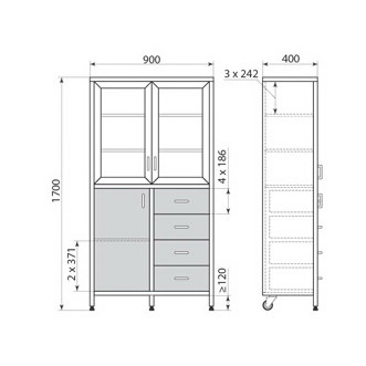 Медицинский шкаф ДМ-3-001-21, фото 2