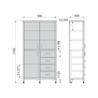 Медицинский шкаф ДМ-3-001-22, фото 2
