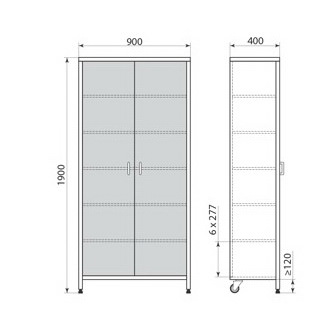 Медицинский шкаф ДМ-3-001-28, фото 3