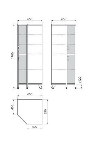 Медицинский шкаф ДМ-3-001-34, фото 2