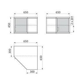 Шкаф навесной ДМ-3-002-06