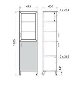 Шкаф медицинский ДМ-6-001-03, фото 2