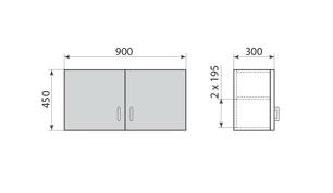 Шкаф навесной ДМ-6-002-02