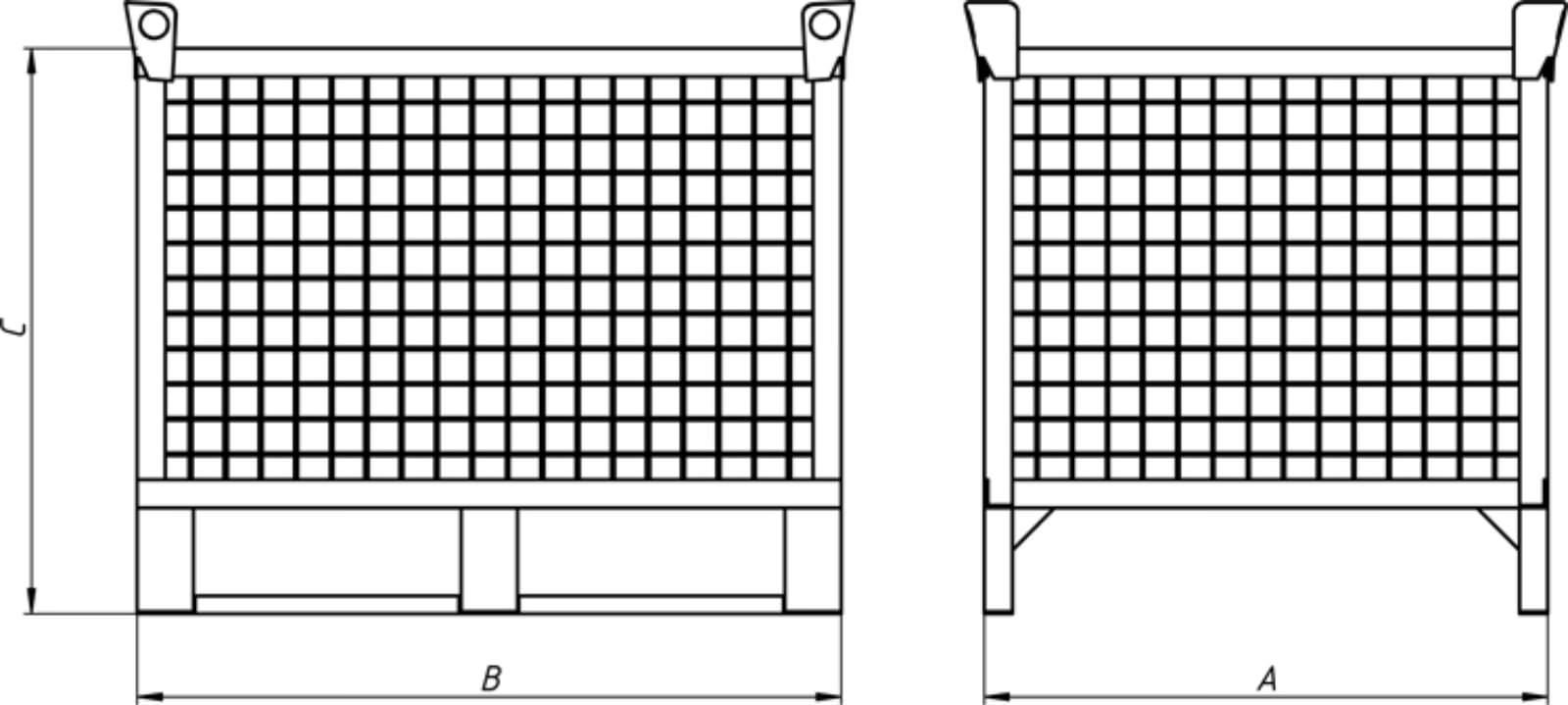 Контейнер цельносварной для складирования КС-2, фото 2