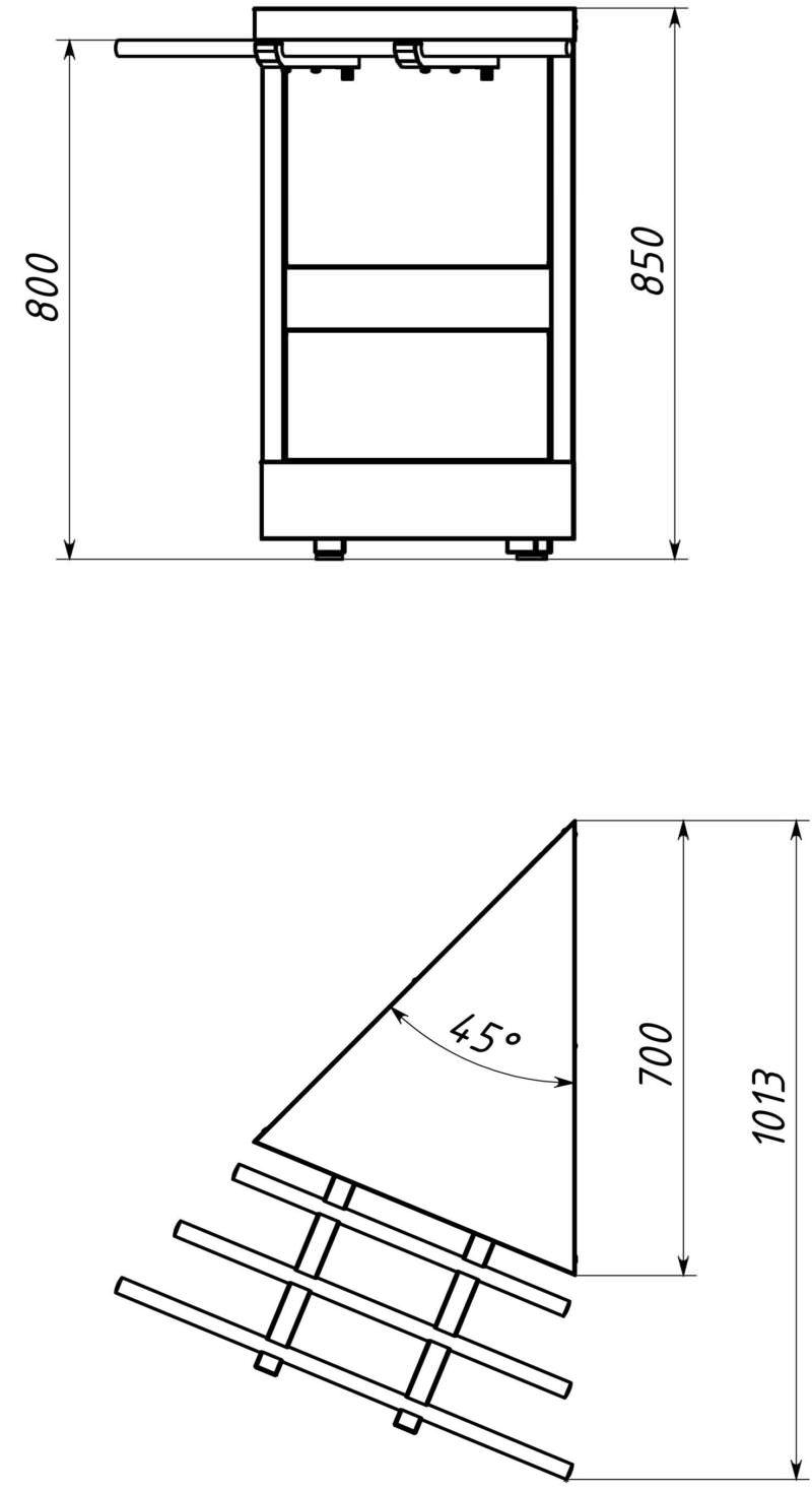 Нейтральный модуль поворотный внешний 45 градусов МН-5/7-45