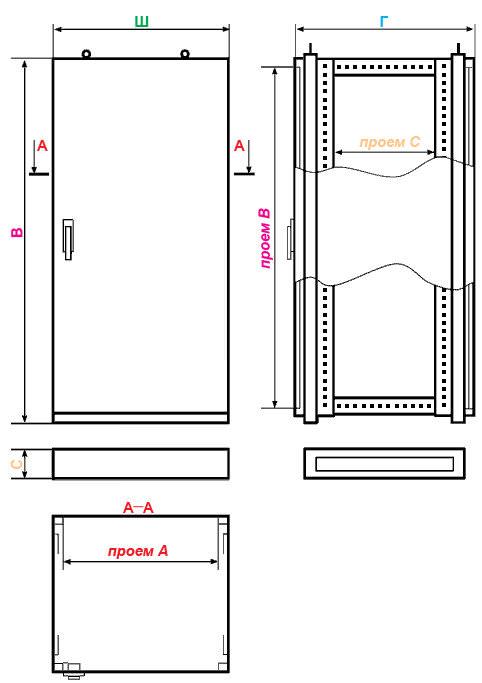 Шкаф сборный унифицированный ШСУ 061606, фото 2