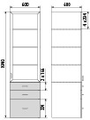 Медицинский шкаф ДМ-4-001-13, фото 2