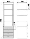 Медицинский шкаф ДМ-4-001-15, фото 2